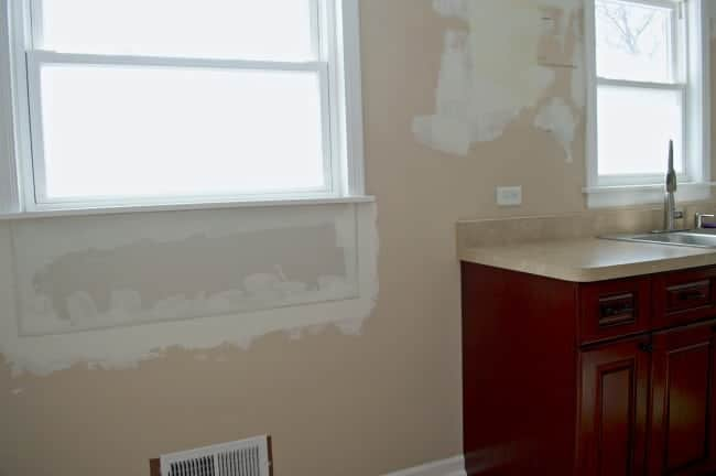 Raising a window sill and patching a large hole. An easy DIY for anyone. chatfieldcourt.com