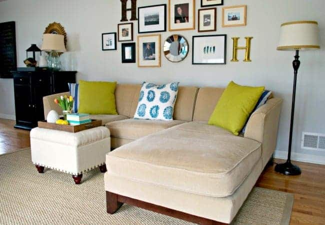 spring refreshed living room