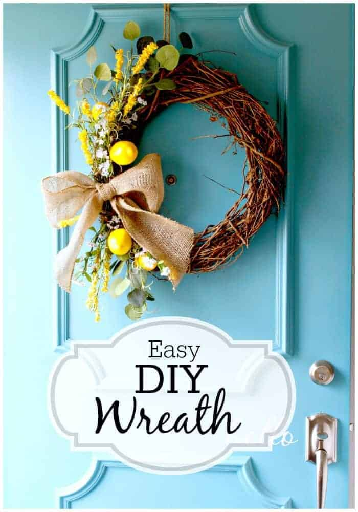 Make this easy DIY spring wreath for your front door. | www.chatfieldcourt.com
