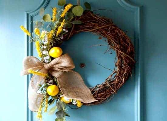 DIY Spring Wreath for The Front Door