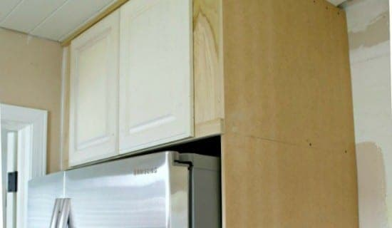 kitchen reno refrigerator cabinet thumb 2