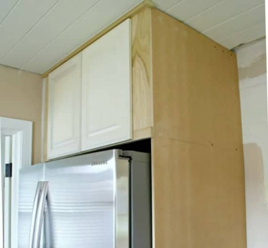 How To Build A Diy Refrigerator Cabinet