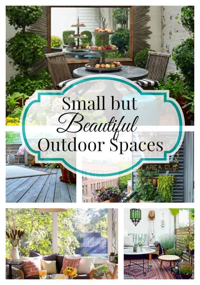 A collection of Small But Beautiful Outdoor Spaces