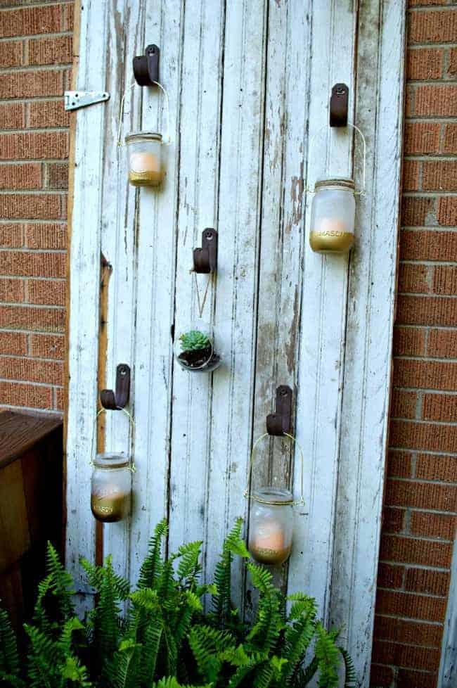 Outdoor Mason Jar Candle Barn Door | chatfieldcourt.com