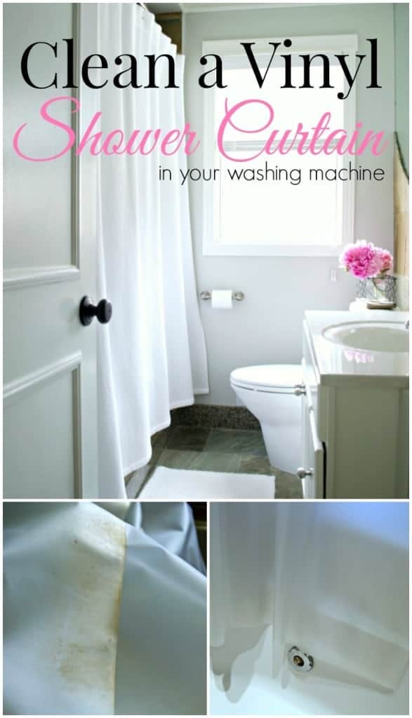 How to easily clean a vinyl shower curtain in your washing machine. | chatfieldcourt.com