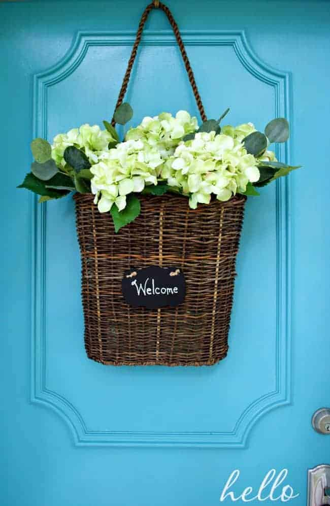 Summer Front Door Basket Filled With Hydrangea | Chatfieldcourt.com ...