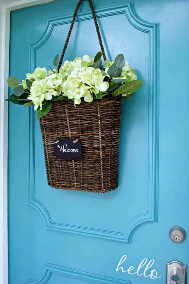 Painting the front door BM blue lake | chatfieldcourt.com
