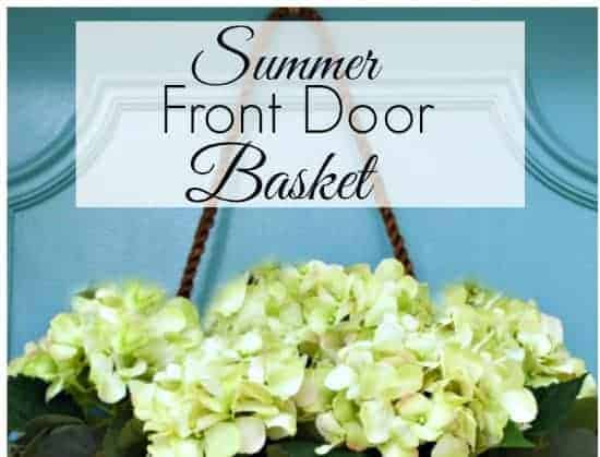Create this beautiful summer basket for your front door with just a few supplies. | chatfieldcourt.com