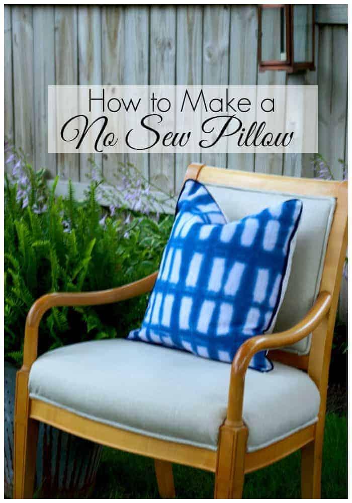How to make a no sew pillow.| chatfieldcourt.com