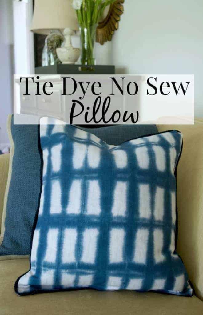 Tie Dye Pillow Cover Tutorial | www.chatfieldcourt.com