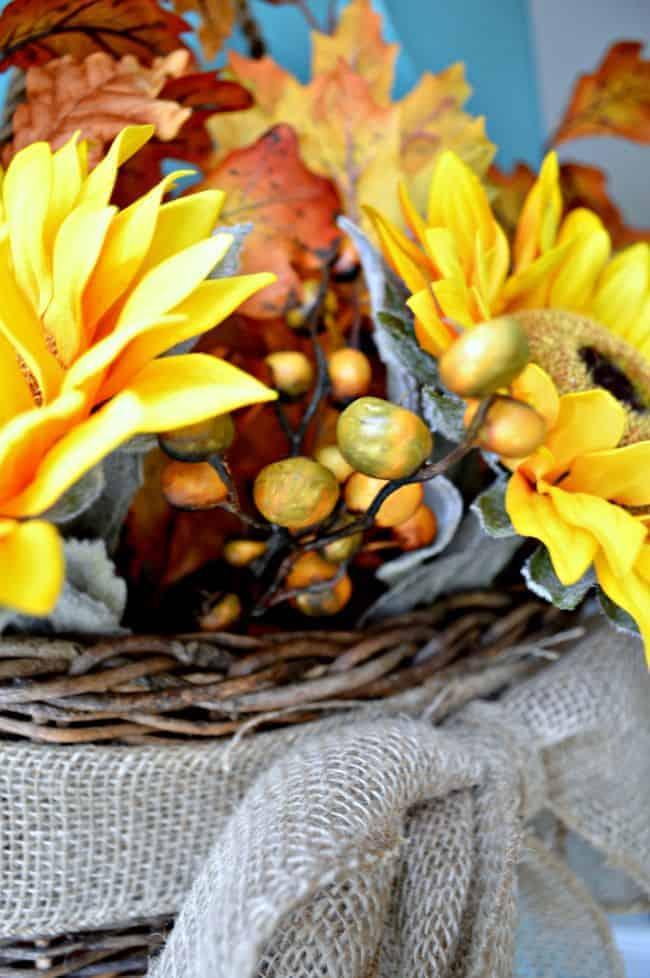 Fall Front Door Basket | chatfieldcourt.com