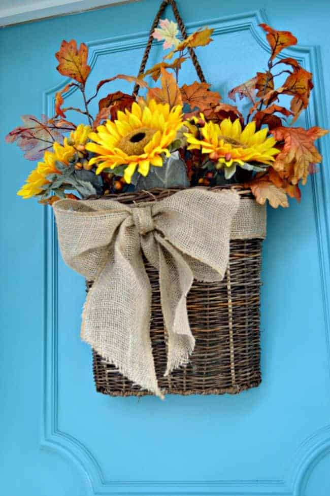 Fall Front Door Basket | chatfieldcourt.com