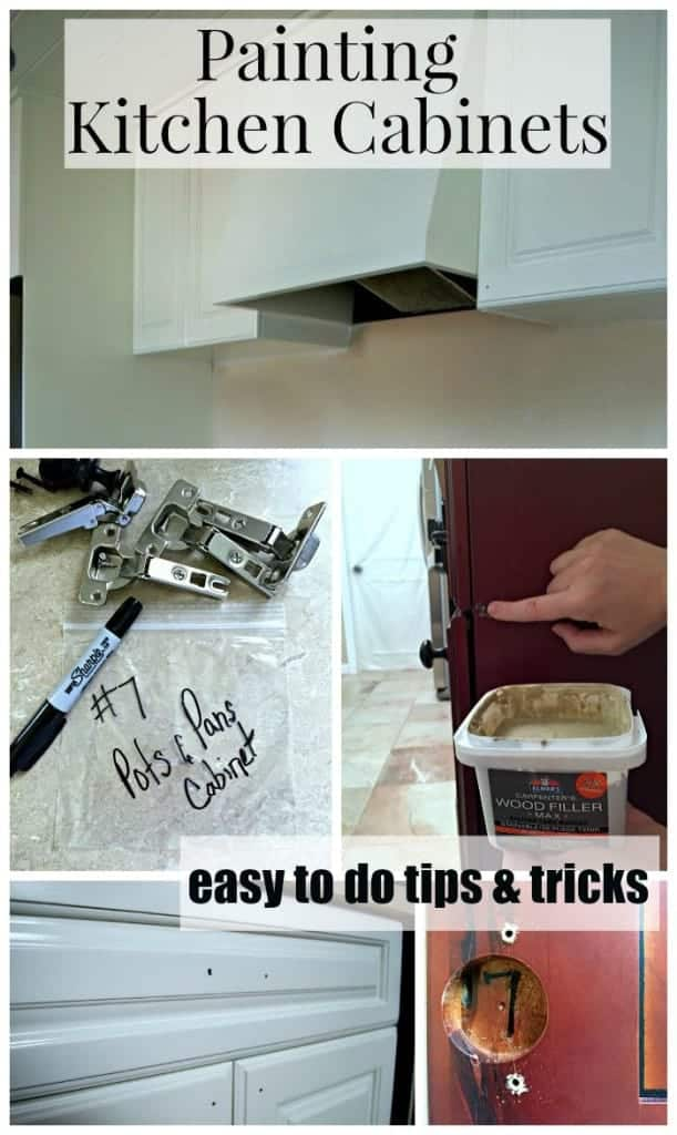 Easy to do tips and tricks for painting kitchen cabinets. | chatfieldcourt.com