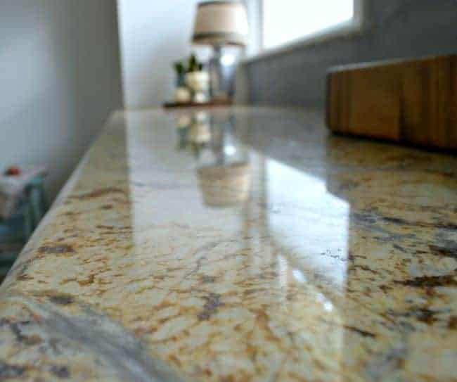 granite countertop with brown and gray swirls