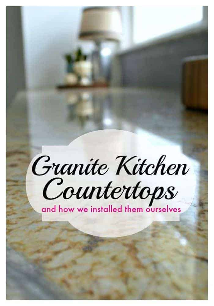 Tutorial on how we installed new granite kitchen countertops all on our own and saved thousands. | www.chatfieldcourt.com