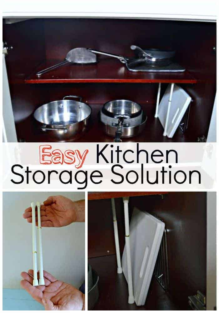 Quick and easy kitchen storage solution to wrangle your cutting boards and bakeware. | chatfieldcourt.com