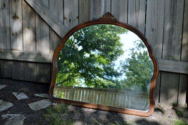 Vintage mirror before it was turned into a kitchen chalkboard | chatfieldcourt.com