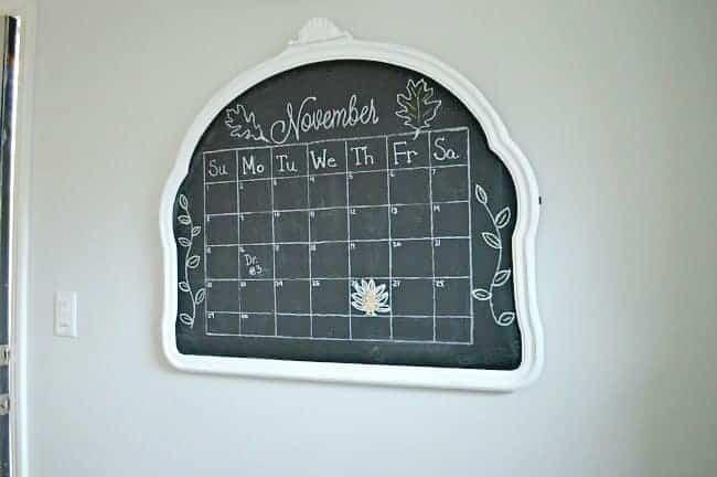 Easy chalkboard calendar after| www.chatfieldcourt.com