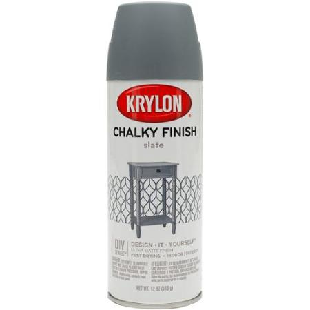 Krylon spray chalky finish in Slate | chatfieldcourt.com
