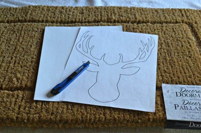 DIY deer head doormat printable and shipping label. | chatfieldcourt.com