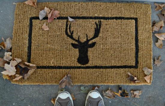 DIY Deer Head Doormat