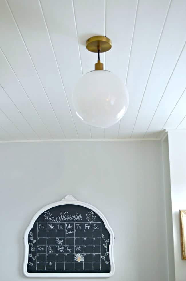 tongue and groove ceiling in kitchen