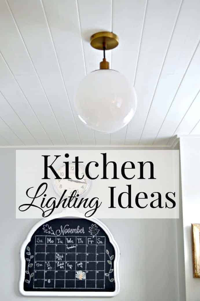 Lighting ideas for a small galley kitchen. | www.chatfieldcourt.com