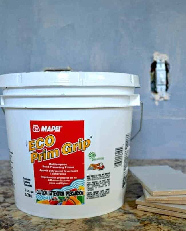 Kitchen Reno Update: Subway Tile Backsplash bonding primer   chatfieldcourt.com