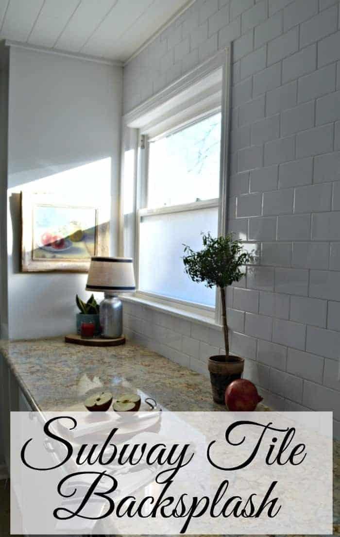 Kitchen Reno Update: Subway Tile Backsplash with warm gray grout  chatfieldcourt.com