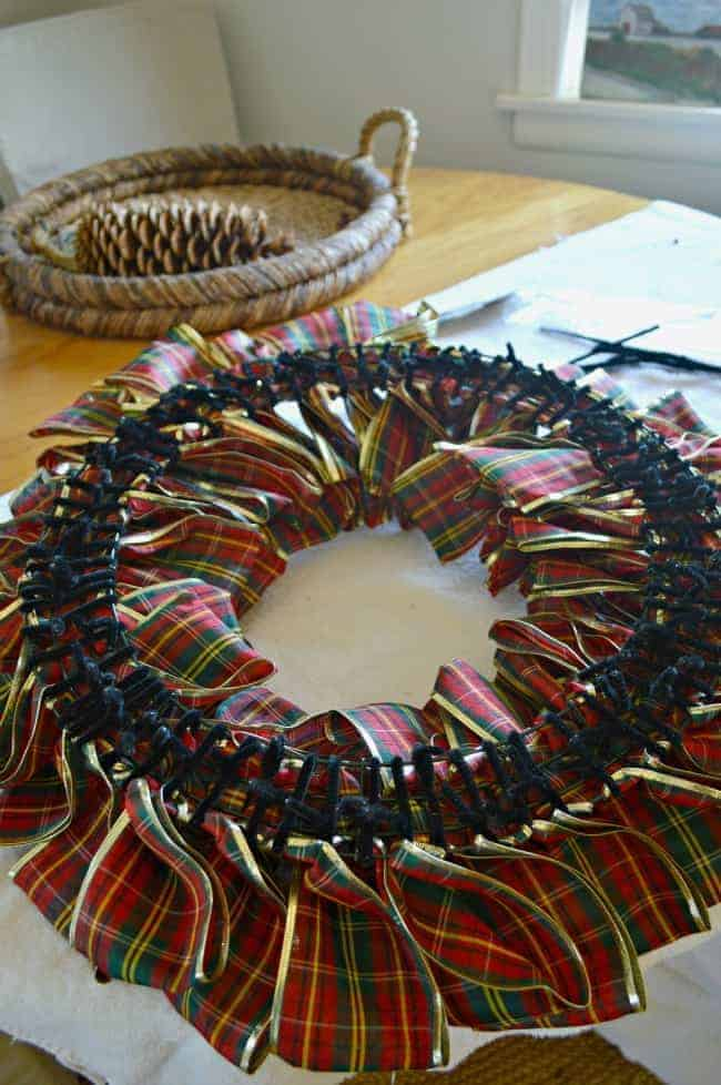 How to make a ribbon wreath Making wreaths