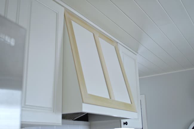 For less than $50 we made DIY custom range hood. | chatfieldcourt.com