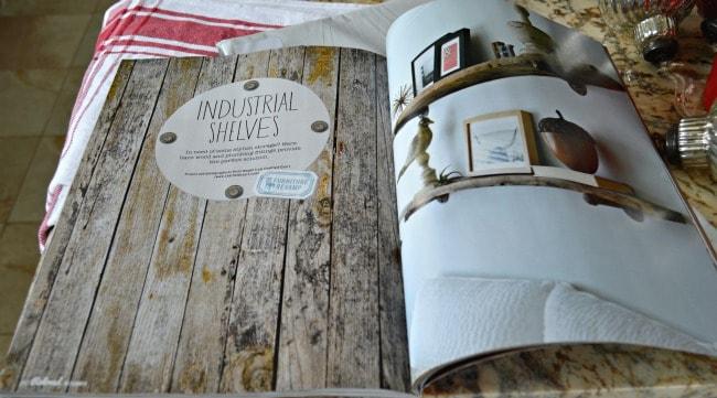 Chatfield Court's barn wood shelves in Reloved magazine | chatfieldcourt.com