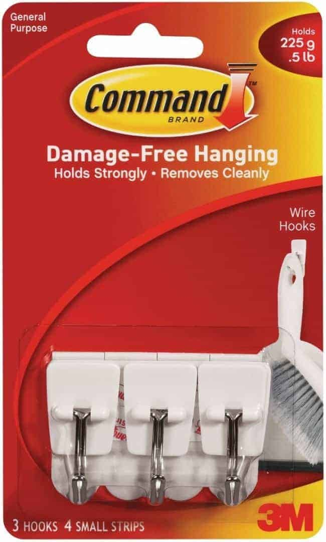 Using Command hooks can help with bathroom organization