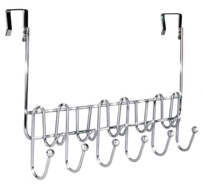 An over the door rack can help with bathroom organization | chatfieldcourt.com