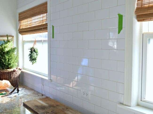 Install a barn wood shelf to add style and functionality to a small kitchen.   chatfieldcourt.com