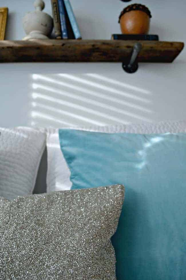 Beat the winter blues by adding a bit of sparkle and icy blue to your room | chatfieldcourt.com