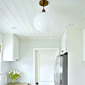 kitchen ceiling lighting in white kitchen