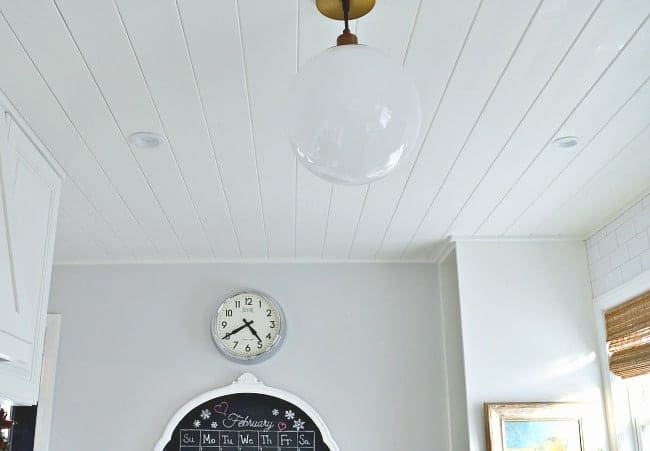 Kitchen remodel details and adding a diy plank ceiling | chatfieldcourt.com