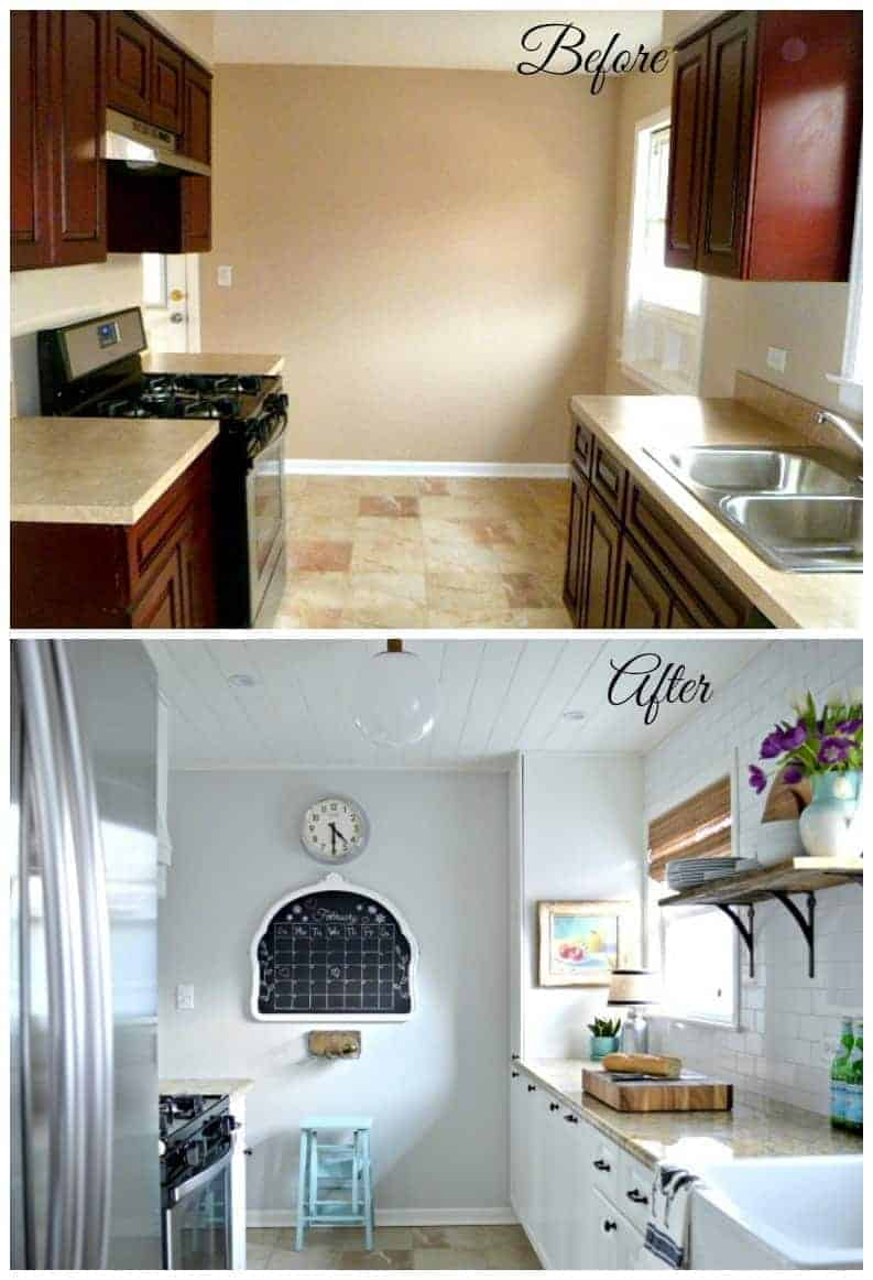 From dark and cramped to light and bright with plenty of storage. How we did a total DIY kitchen remodel for under $3000. chatfieldcourt.com