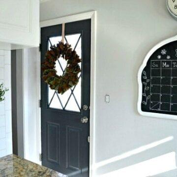 Dark gray painted kitchen door