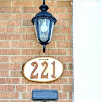 DIY hanging house numbers