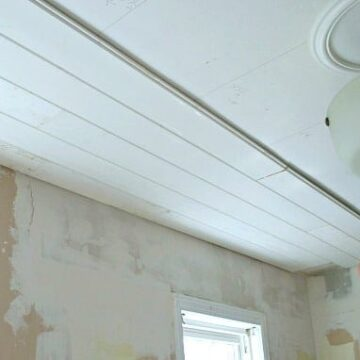 installing tongue and groove on the ceiling