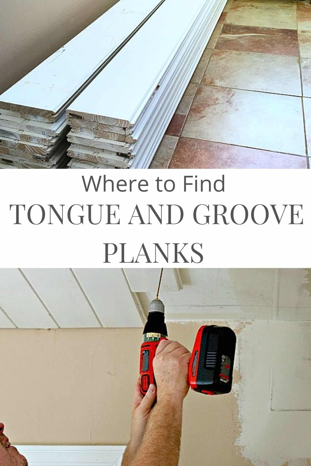 tongue and groove planks on floor and installation