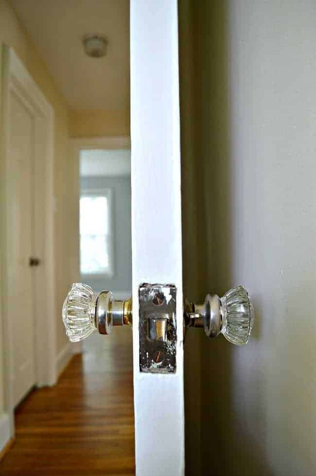 New house, new plans to fix all of the original doorknobs. chatfiedcourt.com