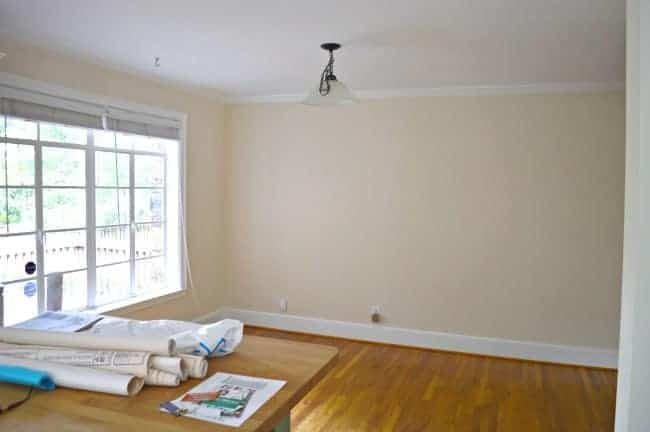 New house, new plans for the dining area. chatfiedcourt.com
