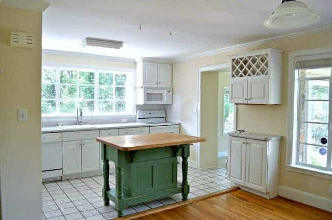 Beautiful DIY open shelving in the kitchen for under $50. www.chatfieldcourt.com