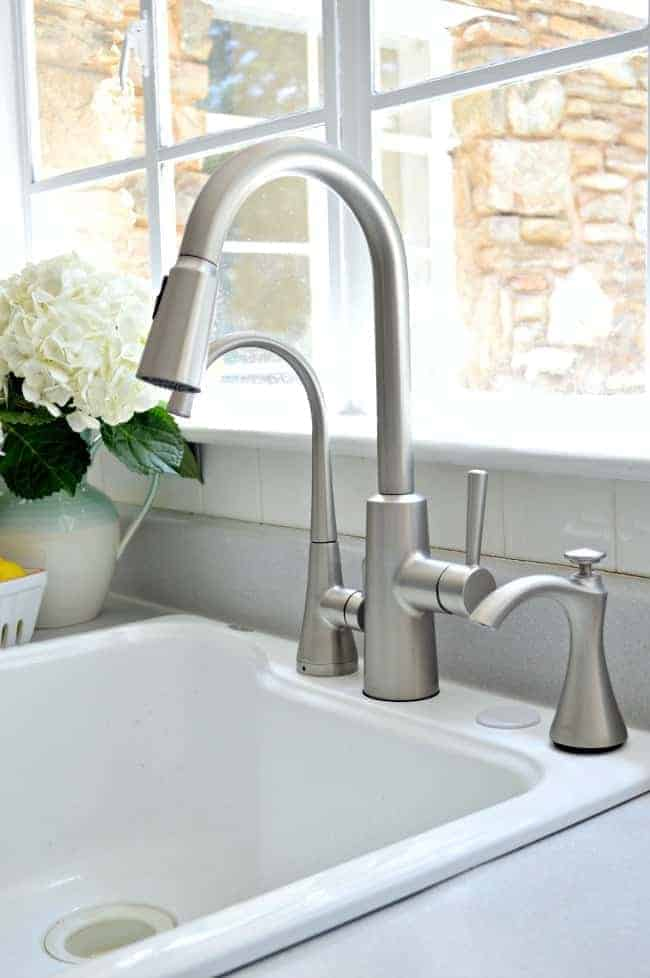 Installing A New Kitchen Faucet Soap Dispenser And Beverage With Filter From Moen