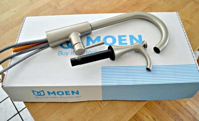 New kitchen faucet and soap dispenser by Moen. chatfieldcourt.com