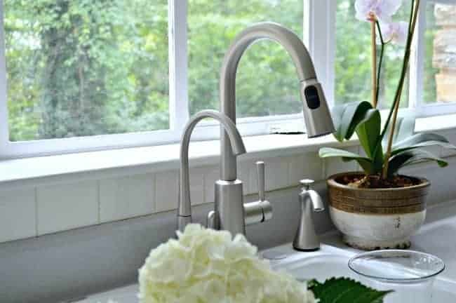 Installing a new kitchen faucet and beverage faucet with filter from Moen. A DIY project that anyone can tackle. chatfieldcourt.com