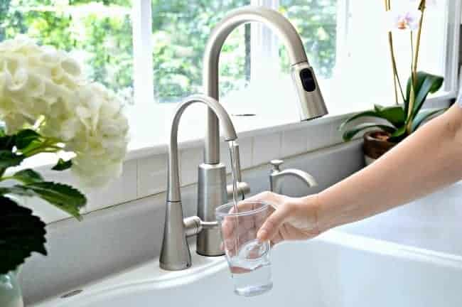 Installing a new kitchen faucet and beverage faucet with filter from Moen. A DIY project anyone can tackle. chatfieldcourt.com